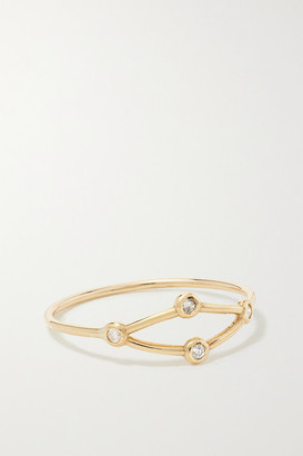 Sebastian Net 10-karat Gold Diamond Ring