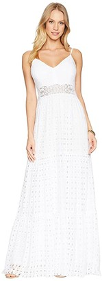 Lilly Pulitzer Melody Maxi Dress (Resort White Stripey Rayon Eyelet) Women's Dress