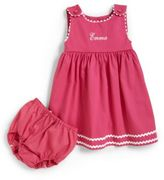 Princess Linens Toddler's Two-Piece Personalized Dress & Diaper Cover Set