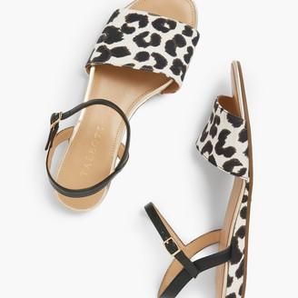 Talbots Daisy Micro-Wedge Sandals - Leopard