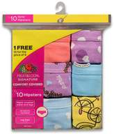 Fruit of the Loom Girls 4-14 9-pack Hipster Panties
