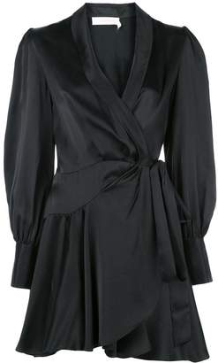 Zimmermann short wrap-style dress
