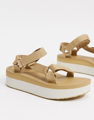 Teva flatform universal chunky sandals in lark