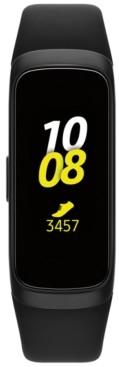 """Samsung Unisex Galaxy Fit Black Elastomer Strap Touchscreen Smart Watch .95"""""""