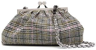 Ermanno Scervino Plaid Leather Clutch Bag