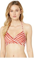 Vince Camuto Hammock Stripe Wrap Bikini Top (Papaya) Women's Swimwear