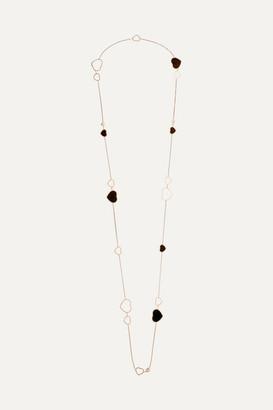 Chopard Happy Hearts 18-karat Rose Gold, Diamond And Onyx Necklace