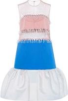 DELPOZO Silk Striped Tulle Dress