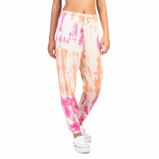 Hurley Women's W Allover Tie Dye Fleece Jogger Pants