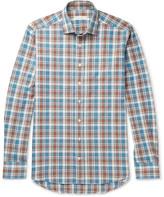 Etro Checked Brushed-Cotton Shirt