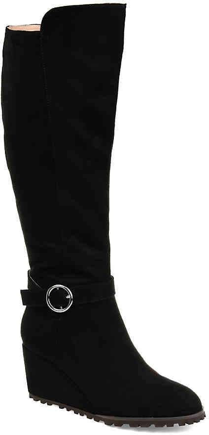 6f217ae70 Wide Calf Black Platform Boots - ShopStyle