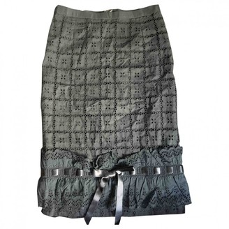 Dolce & Gabbana Khaki Cotton Skirt for Women Vintage