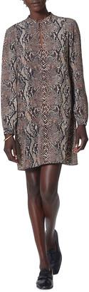 Joie Briona Snake-Print Mini Shift Dress