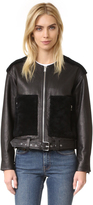 IRO Ever Shearling Trim Jacket