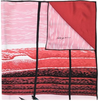 Julien David The Wave Indian Summer scarf