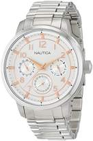 Nautica Men's 'NCT 15 MULTI II' Quartz Stainless Steel Casual Watch, Color:Silver-Toned (Model: NAD16554G)