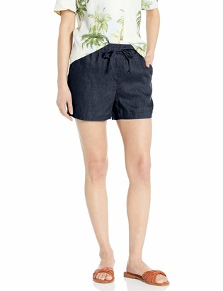 "28 Palms Women's 4"" Inseam Linen Short with Drawstring"