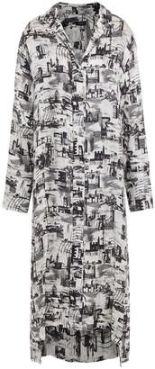 Joseph Printed Satin-twill Midi Shirt Dress