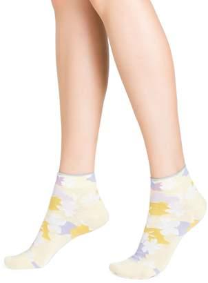Bleu Foret Women's Floral Ankle Socks