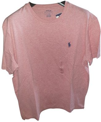 Polo Ralph Lauren Pink Cotton T-shirts