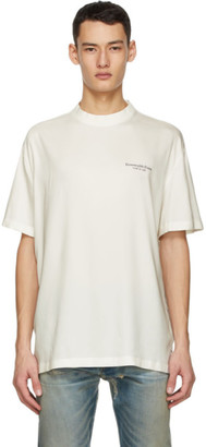 Fear of God Ermenegildo Zegna Off-White Oversized T-Shirt