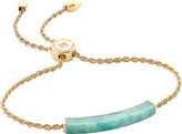 Monica Vinader Linear 18ct gold-plated amazonite bracelet