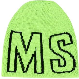 Msgm Kids Logo Beanie