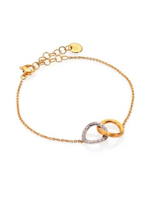 Marco Bicego Delicati Diamond, 18K Yellow & White Gold Link Bracelet