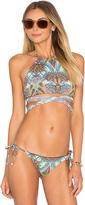 L-Space LSPACE Lizzie Wrap Bikini Top