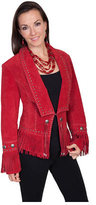 Scully Women's Classic Long Lapel Suede Jacket L196