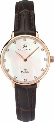 Accurist Womens Analogue Classic Quartz Watch with Leather Strap 8210