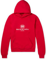 Balenciaga Oversized Printed Fleece-Back Cotton-Blend Jersey Hoodie