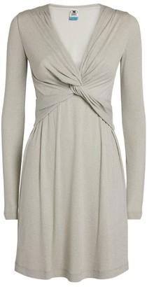 M Missoni Twist-Front Lurex Mini Dress