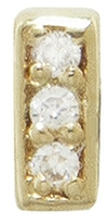 Sydney Evan Diamond Bar Stud Earring - Yellow Gold