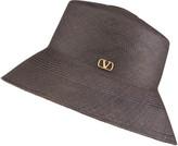 Valentino VLOGO Straw Bucket Hat