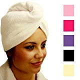 Daylee Naturals Microfiber Twist and Wrap Hair Turban (White)