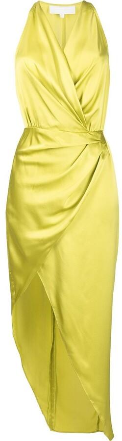 Thumbnail for your product : Mason by Michelle Mason Asymmetric Halterneck Silk Dress