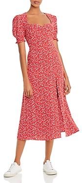 Bardot Millie Puff-Sleeve Midi Dress
