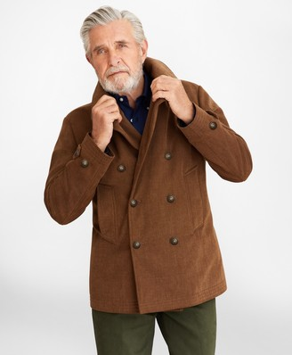 Brooks Brothers Brushed Canvas Peacoat