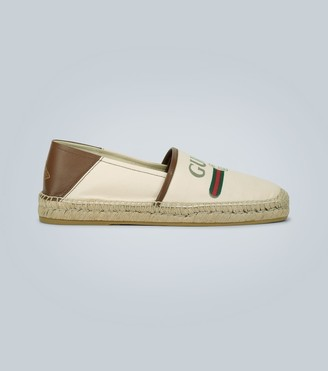 Gucci Canvas espadrilles with logo
