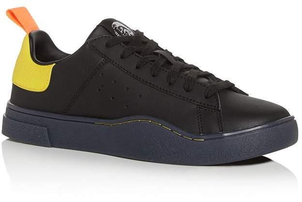 Diesel Men's S-Clever Leather Low-Top Sneakers