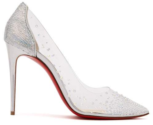 separation shoes 2ca0b a89be Degrastrass 100 Crystal Embellished Pvc Pumps - Womens - Silver