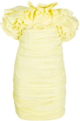 Nervi Emanuelle pleated ruffle mini dress