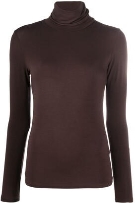 Majestic Filatures Roll Neck Stretch-Fit Sweater