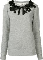 Antonio Marras floral neck detail sweatshirt