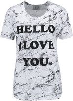 Zoe Karssen Printed Modal And Cotton-Blend T-Shirt