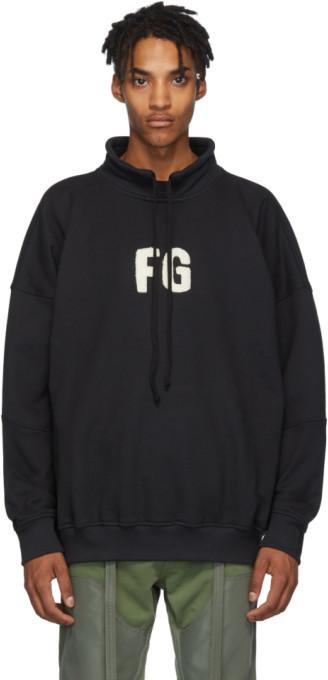 Fear Of God Black Mock Neck FG Sweatshirt