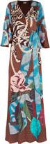 Temperley London Catalinia printed satin wrap maxi dress