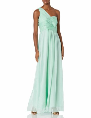 Minuet Women's Long Ruched One Shoulder Gown