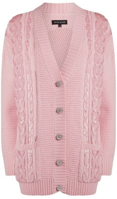 Izaak Azanei Embellished Wool Cardigan